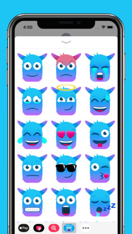 Blue Monster Stickers 2
